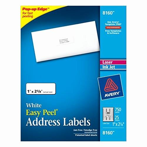 Avery 8 Labels Per Sheet Best Of Avery Easy Peel Address Labels for Inkjet Printers 1 X 2