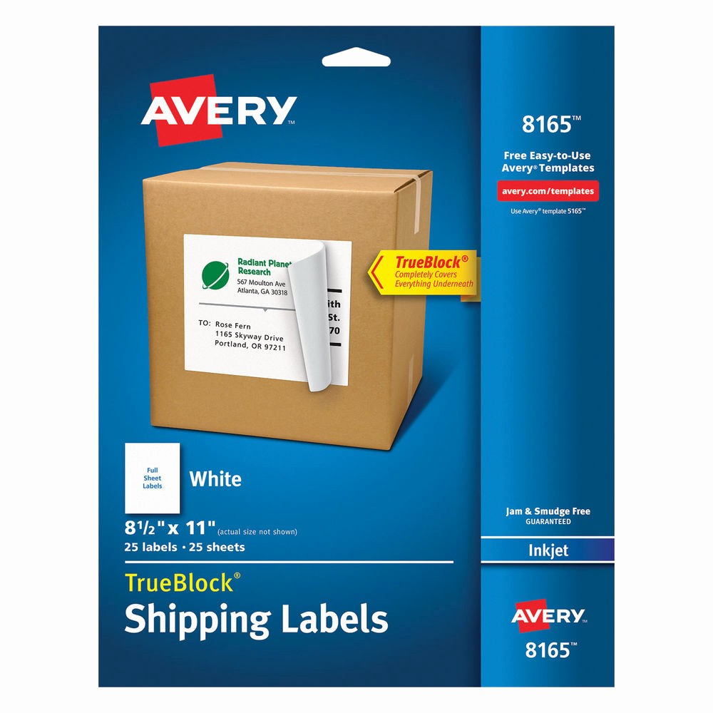 Avery 8 Labels Per Sheet Elegant Avery Full Sheet Labels with Trueblock Technology Inkjet 8