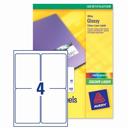 Avery 8 Labels Per Sheet Fresh Avery L7769 40 Address Labels Colour 4 Per Sheet 139 X 99