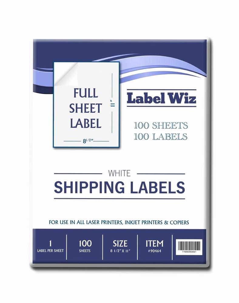 "Avery 8 Labels Per Sheet Inspirational 100 Full Sheet Shipping Label 8 5"" X 11"" Same Size as"