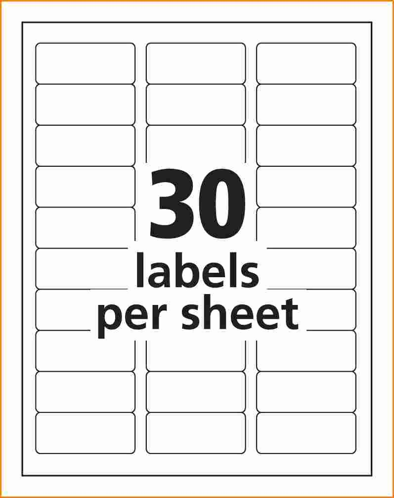Avery 8 Labels Per Sheet Unique Address Label Template Avery 8160 Templates Resume
