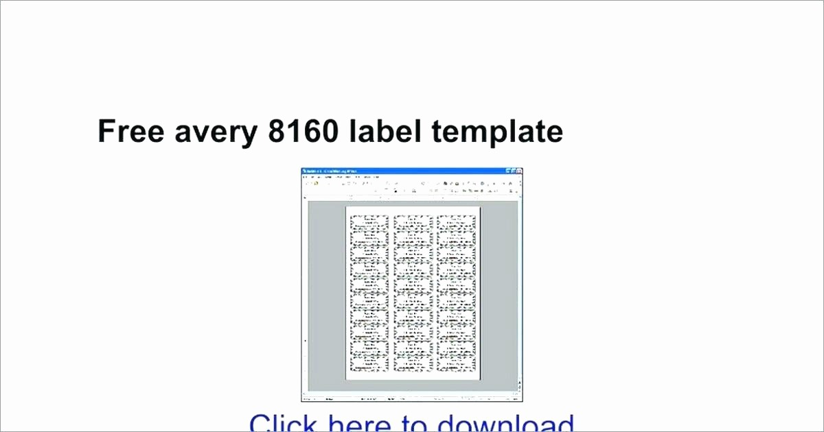 Avery 8160 Address Label Template Best Of Avery 8160 Address Label Template Download Best S
