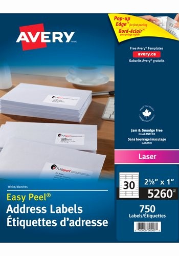 "Avery 8160 Address Label Template Inspirational Avery 5260 Address Labels 1"" X 2 5 8"" Rectangle White"