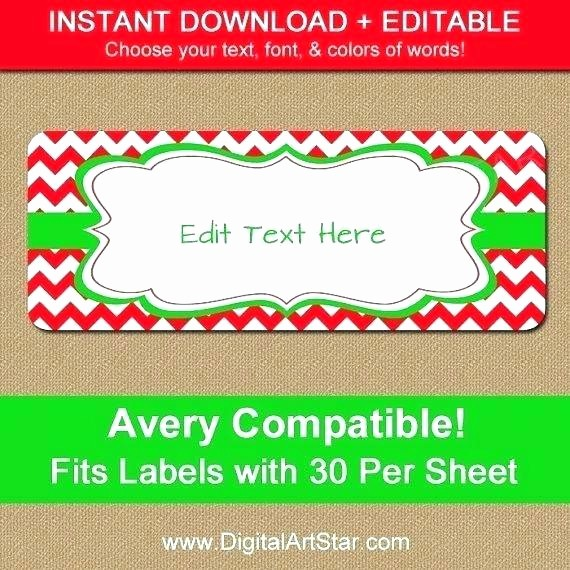 Avery 8160 Christmas Gift Labels Awesome Free Avery 5160 Template Word 2010 Label Templates for