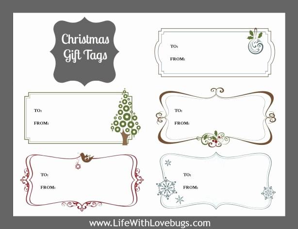 Avery 8160 Christmas Gift Labels Elegant Christmas Gift Tags Printable Life with Lovebugs