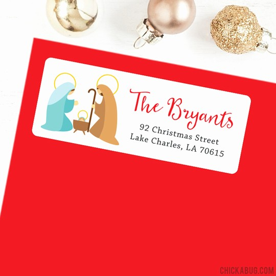 Avery 8160 Christmas Gift Labels Inspirational Christmas Address Labels Nativity Sheet Of 30