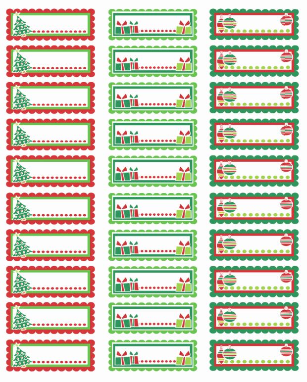 Avery 8160 Christmas Gift Labels Lovely Christmas Labels Ready to Print