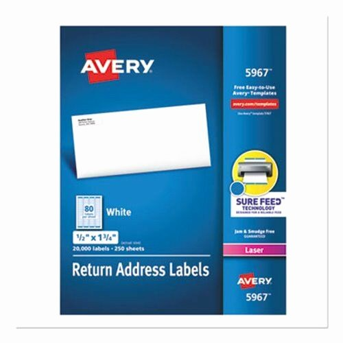 Avery 8167 Template for Pages Best Of Avery Return Address Labels 1 2 X 1 3 4 White Box