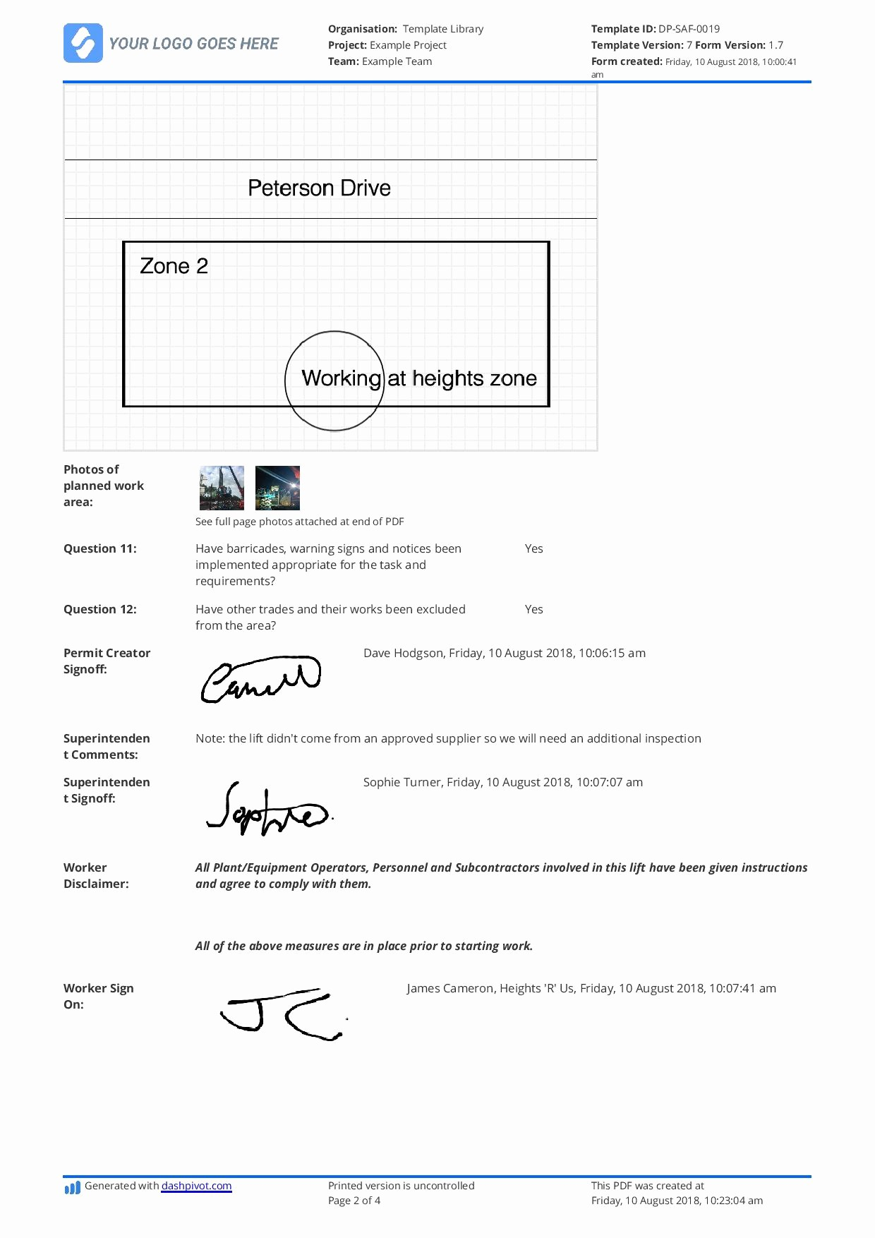 Avery 8167 Template Word 2007 Elegant Working at Height Permit to Work Template Gallery Free