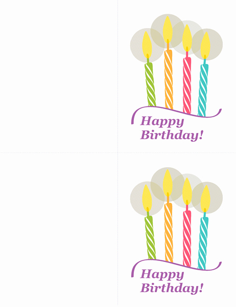Avery 8315 Note Cards Template Beautiful Birthday Cards 2 Per Page