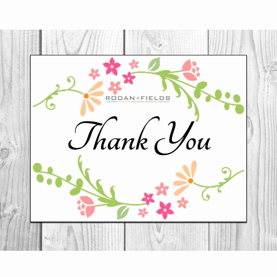 Avery 8315 Note Cards Template Fresh Rodan and Fields Thank You Cards Prints 2 Per Sheet
