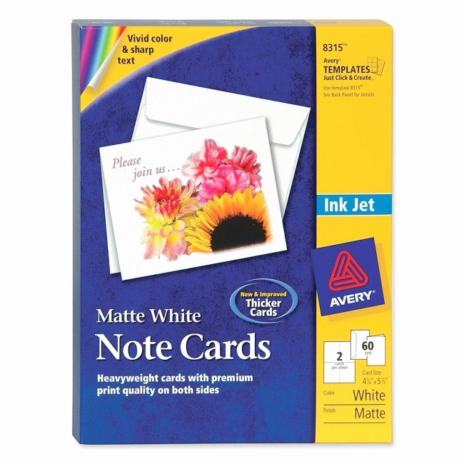 Avery 8315 Note Cards Template Luxury Printer