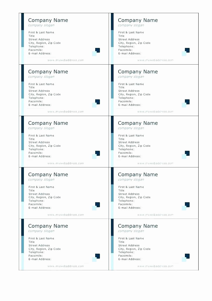 Avery 8871 Template for Word Lovely Avery 8871 Business Card Template Word Blank – Spitznasfo