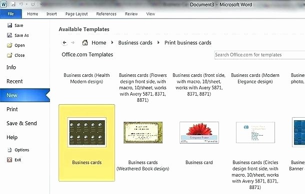 avery 8871 business card template word blank