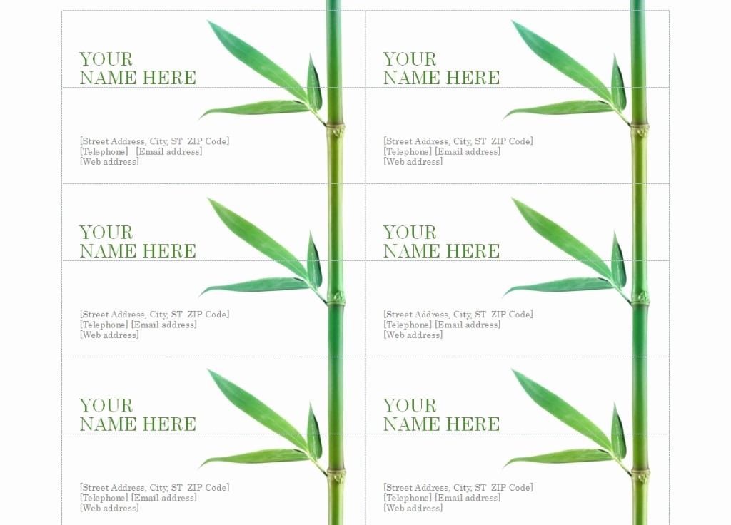 Avery 8875 Business Cards Templates Fresh Template for Avery 8873 Free software and Ware
