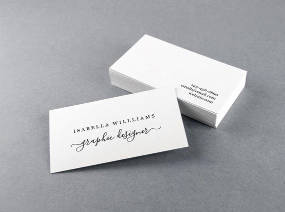 Avery Business Card Template 28878 Luxury Business Card Template Printable Personal Simple Rustic