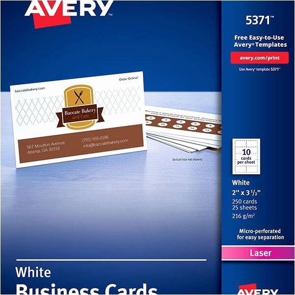 Avery Business Card Template 8859 Inspirational Avery Label Template 5371