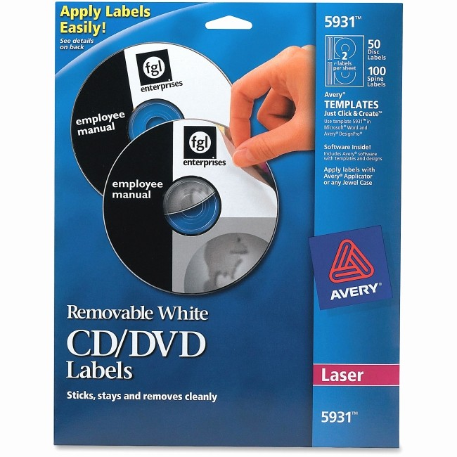 Avery Cd Label Template 5931 Luxury Avery 5931 Laser Printer Removable Cd Dvd Labels Removable