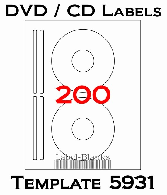 Avery Cd Label Template 5931 New Blank Laser Ink Jet Labels for Cd or Dvd 100 Sheets