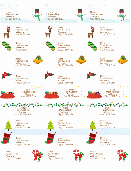 Avery Christmas Label Templates 5160 Inspirational Gift Tag Labels Christmas Spirit Design 30 Per Page
