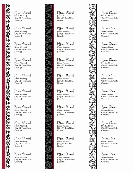 Avery Christmas Label Templates 5160 Inspirational Return Address Labels Black and White Wedding Design