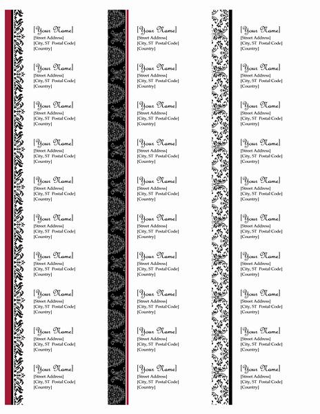 Avery Christmas Label Templates 5160 Inspirational Return Address Labels Black and White Wedding Design