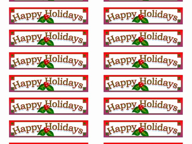Avery Christmas Label Templates 5160 New Avery Holiday Labels Templates 7 Best Printable