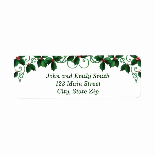 Avery Holiday Return Address Labels Awesome Avery 6870 Template Microsoft Word