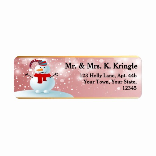 Avery Holiday Return Address Labels Awesome Holiday Snowman Return Address Labels