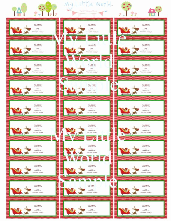 Avery Holiday Return Address Labels Best Of 8 Best Of Free Printable Holiday Mailing Labels