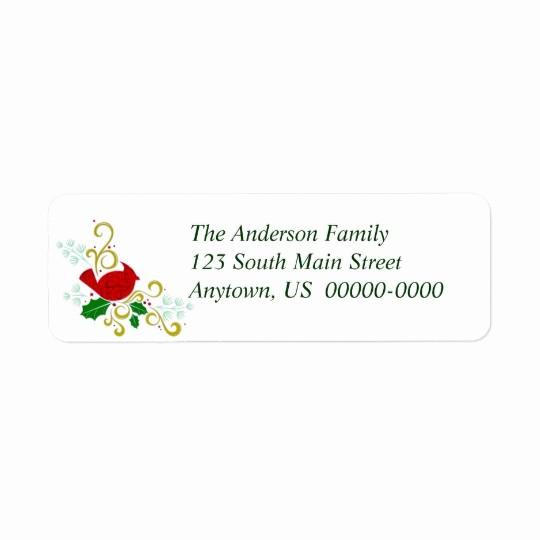 Avery Holiday Return Address Labels Elegant Christmas Cardinal Avery Return Address Label