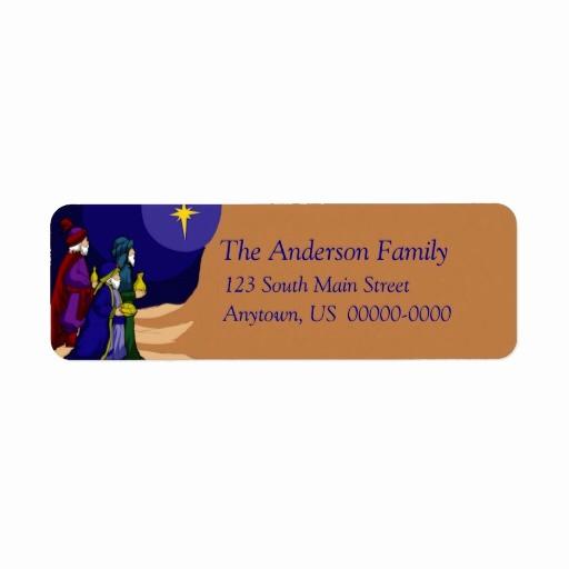 Avery Holiday Return Address Labels Elegant Three Wise Men Holiday Avery Label Return Address Label