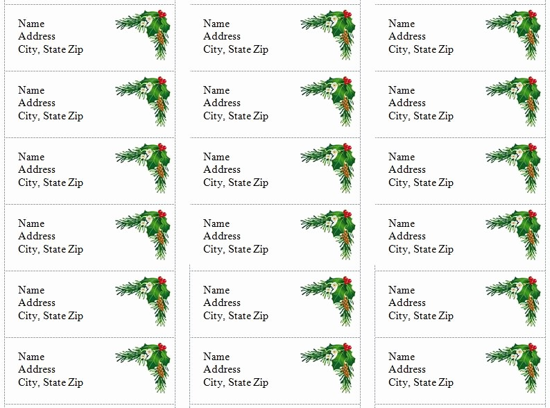 Avery Holiday Return Address Labels Lovely Free Printable Christmas Return Address Label Template