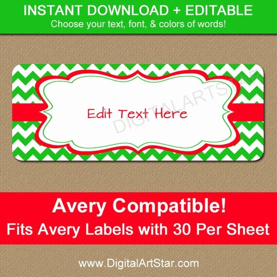 Avery Holiday Return Address Labels New Editable Christmas Address Labels Printable by Digitalartstar
