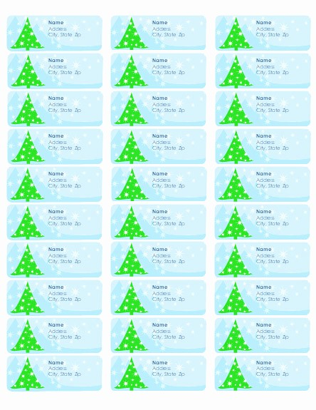 Avery Holiday Return Address Labels Unique Free Christmas Address Labels Templates – Happy Holidays