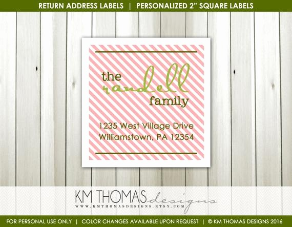 Avery Holiday Return Address Labels Unique Striped Return Address Label Square Label Holiday