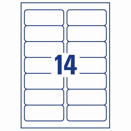 Avery Label 10 Per Page Beautiful Avery 14 Per Sheet Clear Label Pack Of 350 Online at