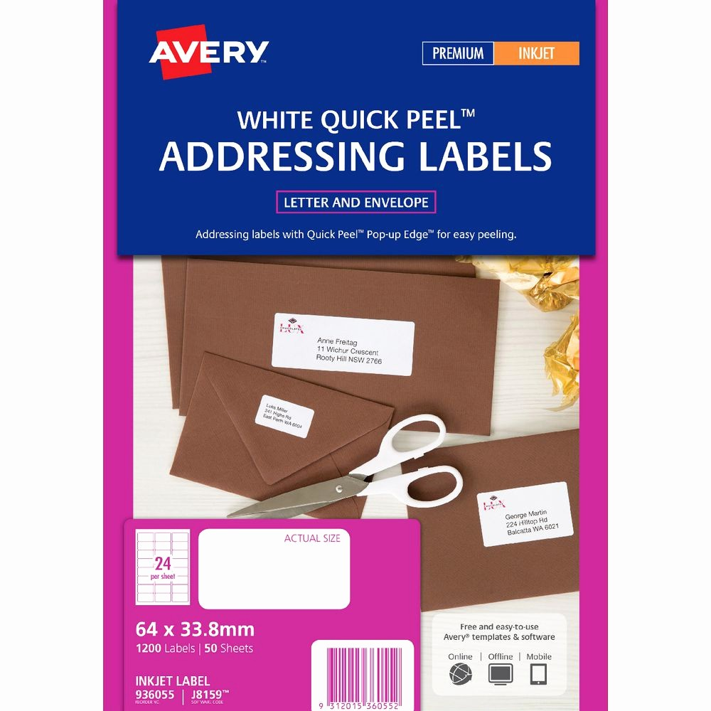 Avery Label 10 Per Page Elegant Avery Mailing Labels 50 Sheets 24 Per Page White