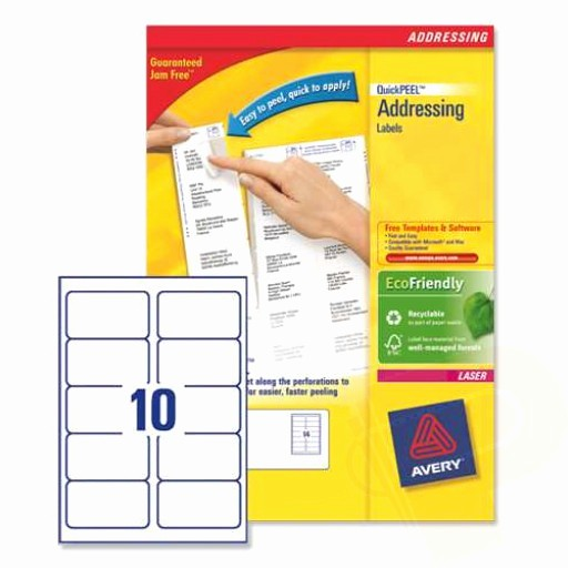 Avery Label 10 Per Page Elegant L7173 Avery Laser Labels 10 Per Sheet 250 Sheets