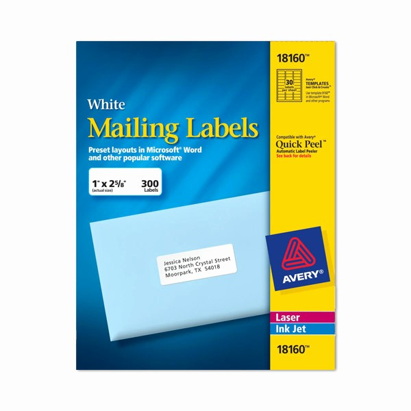 Avery Label 10 Per Page Unique Avery Labels 8160 Self Adhesive Address Labels 30