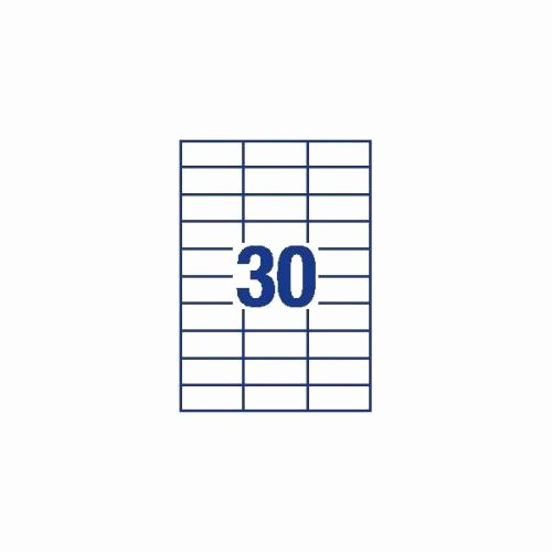 avery 70x30mm copier labels white 30 per sheet 3000 labels dps30 3489