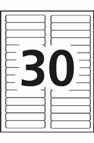 Avery Label 30 Per Sheet Awesome Avery Ecofriendly Filing Labels Template 30