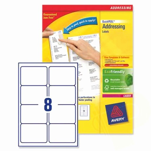 Avery Label 30 Per Sheet Awesome L7165 Avery Laser Labels 8 Per Sheet 250 Sheets