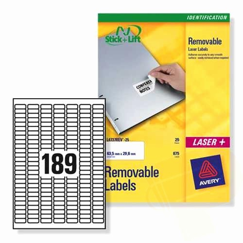 Avery Label 30 Per Sheet Best Of Avery Removable Labels 189 Per Sheet 25 Sheets