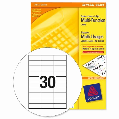 Avery Label 30 Per Sheet Best Of Buy Avery Multipurpose Labels Laser Copier Inkjet 30 Per