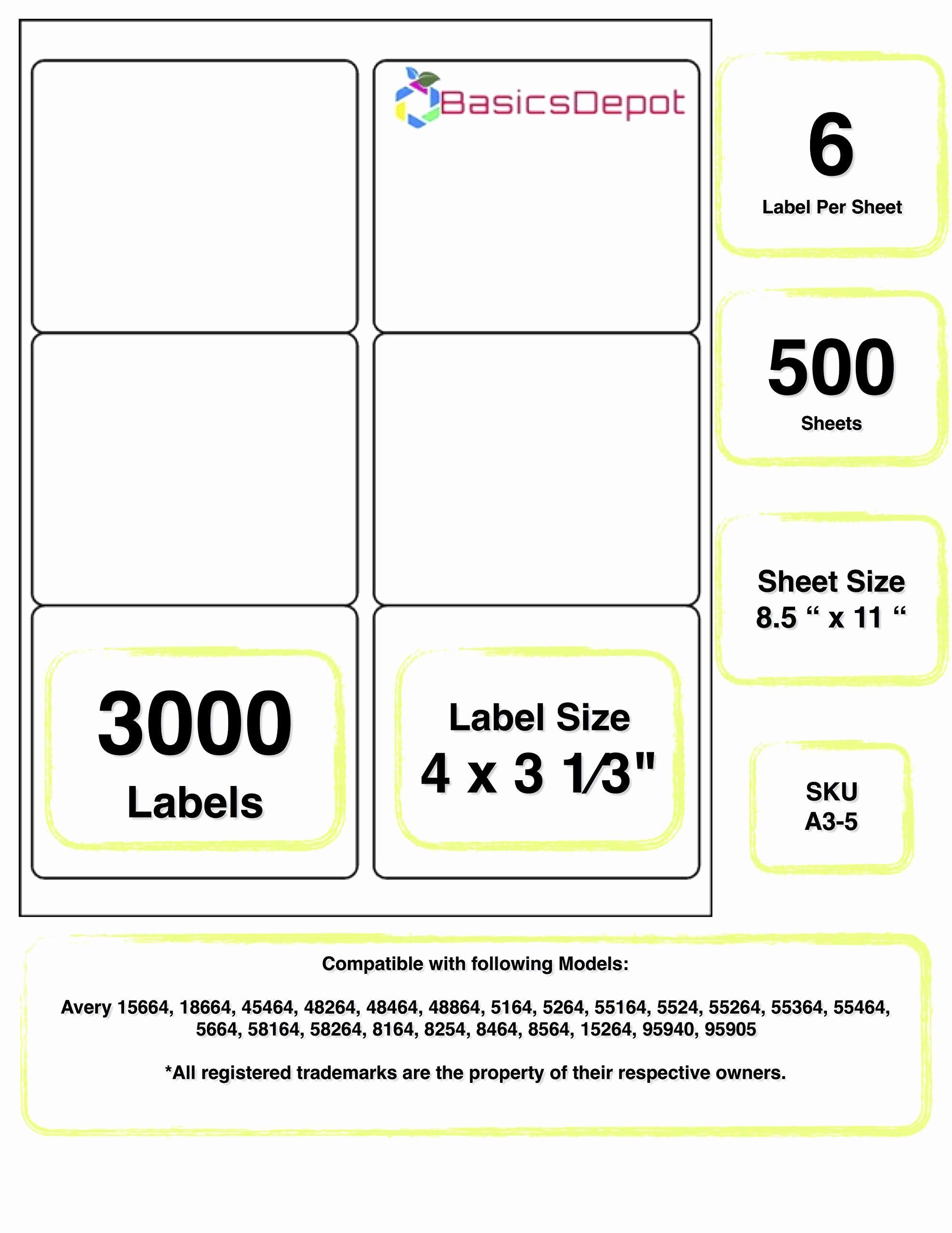 Avery Label 30 Per Sheet Fresh 6 Labels Per Sheet Template Free