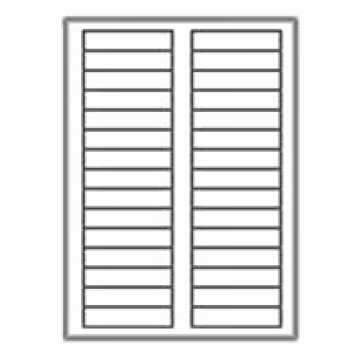 "Avery Label 30 Per Sheet New 3000 Neato Filing Labels 30 Per Sheet 2 3"" X 3 7 16"