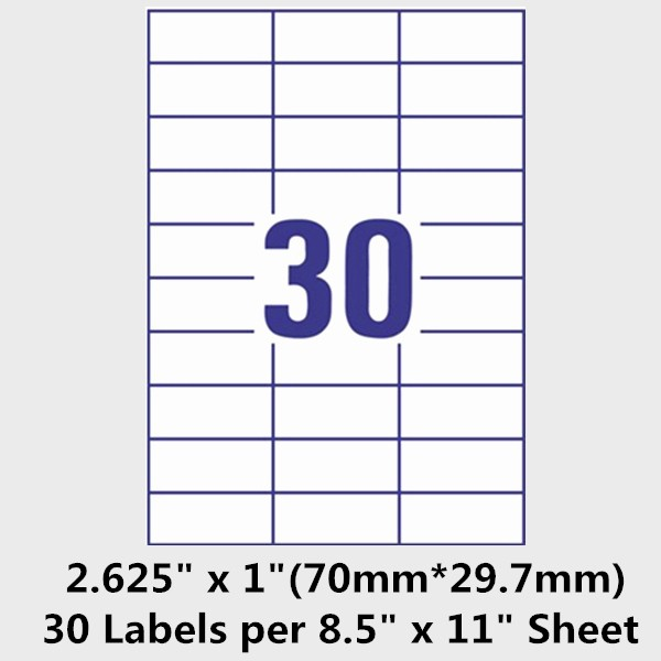 Avery Label 30 Per Sheet Unique Template Address Labels 30 Per Sheet Template for Labels