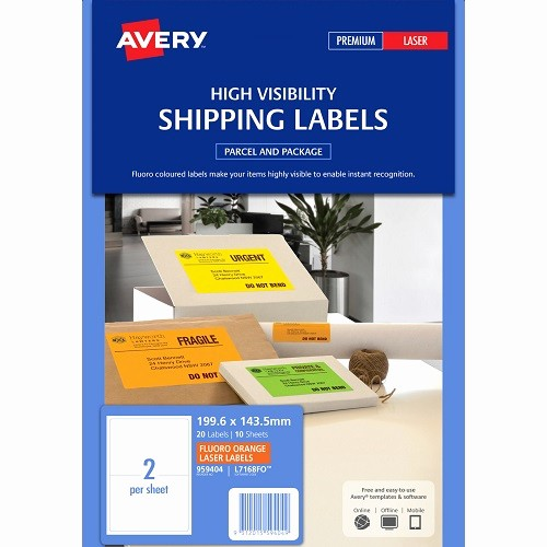 Avery Label 6 Per Page Awesome Avery L7168fo Fluoro orange Shipping Labels 199 6 X 143