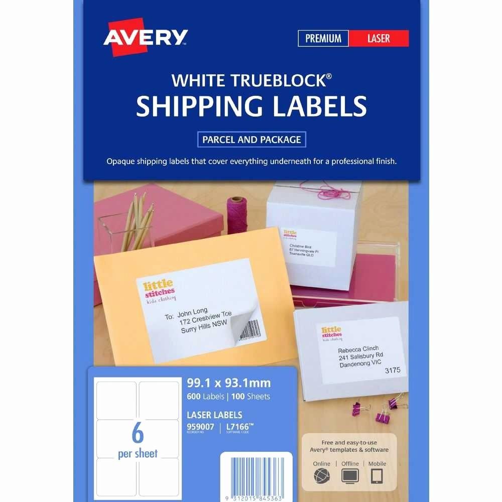 Avery Label 6 Per Page Fresh Label Template 6 Per Page